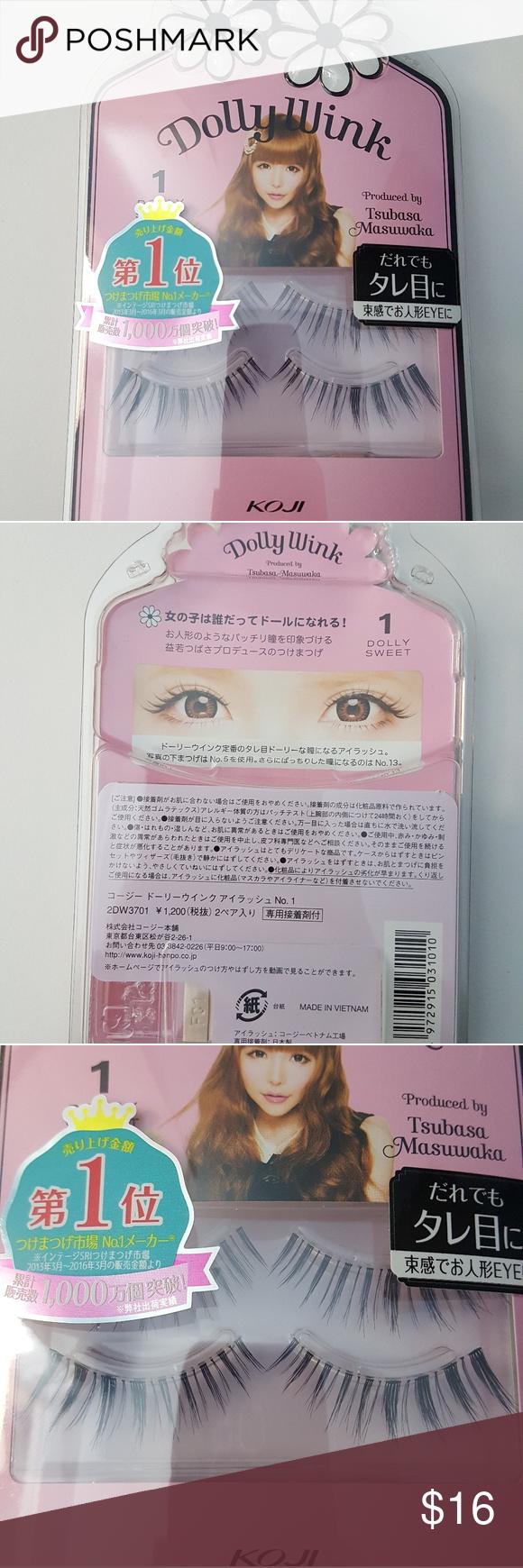 Koji Dolly Wink Japanese False Eyelashes Harajuku Nwt Pinterest