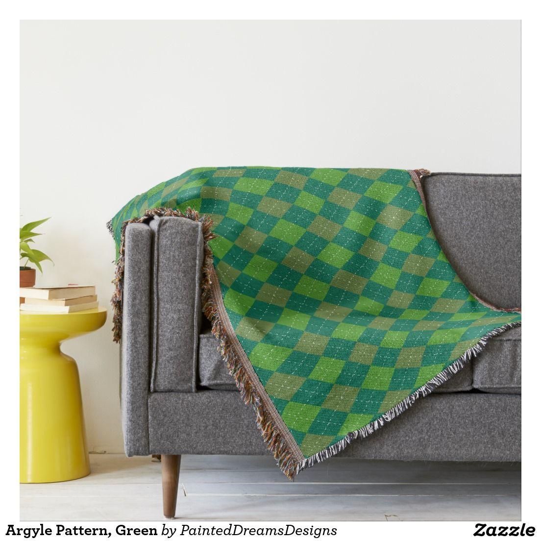 Argyle Pattern, Green Throw