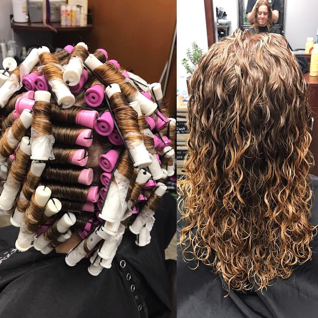 I Did A Speciality Piggyback Wrap Perm Today I Love Perms I Get In The Zone And Love Seeing The End Results Especia Permed Hairstyles Hair Styles Perm Curls