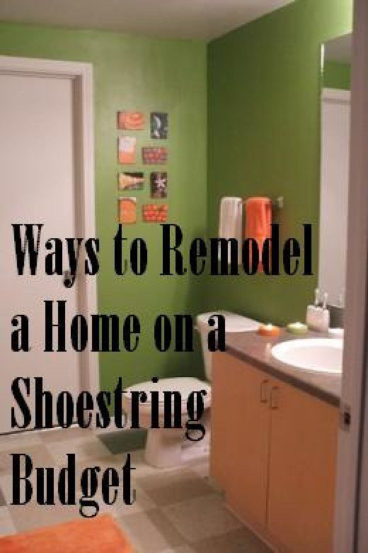 How to Remodel a Home on a Shoestring Budget House, Budgeting and