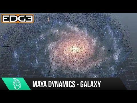 Maya dynamics tutorial galaxy particle effects hd youtube.