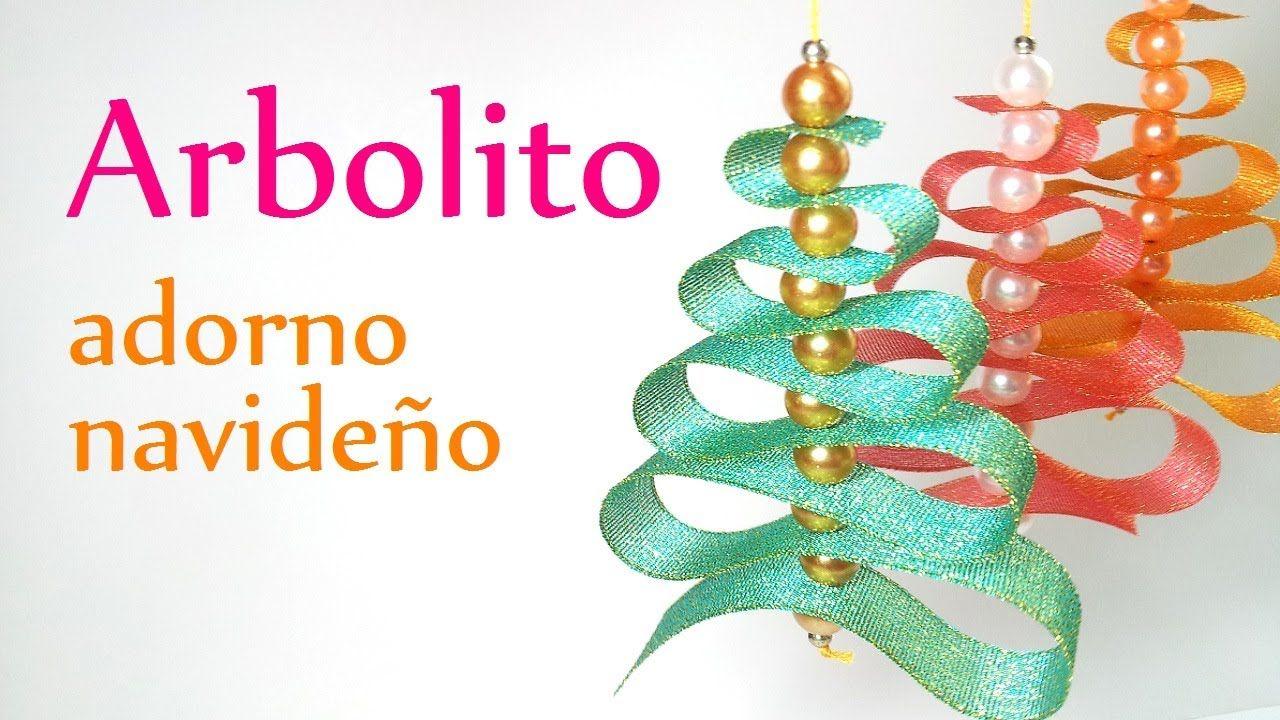 Manualidades Para Navidad Arbolito De Cinta O List N Adornos  ~ Manualidades De Adornos Navideños