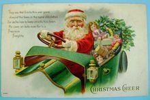 Vintage Henerson Christmas Santa Claus Postcard Frances Brundage