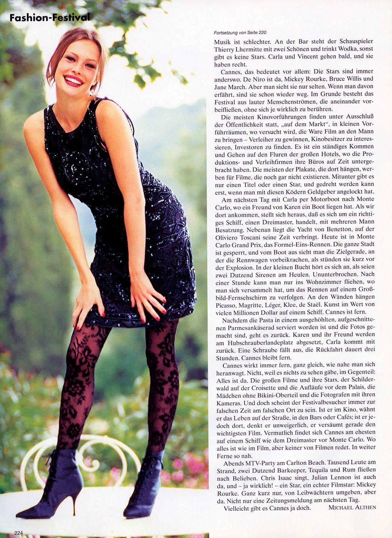 ☆ Nina Brosh | Photography by Arthur Elgort | For Vogue Magazine Germany | August 1994 ☆ #Nina_Brosh #Arthur_Elgort #Vogue #1994