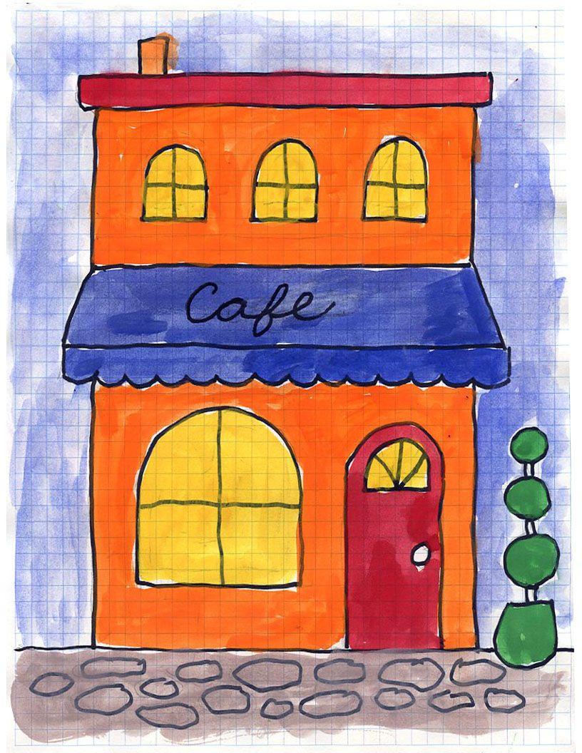 art projects for kids cafe painting diverses pinterest kunst ideen basteln mit kindern. Black Bedroom Furniture Sets. Home Design Ideas