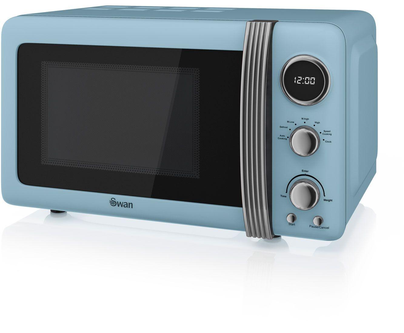 Swan Retro SM22030BLN 20 Litre Microwave - Blue | idées cuisine ...