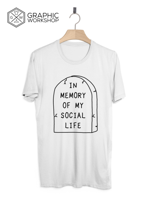 In+Memory+of+My+Social+Life+T-Shirt+//+Pastel+Goth+Grunge+Goth+Tumblr+Clothing+Anti+Social+Kawaii+Internet+Hipster+Rip+Punk+Indie+Cute+Emo  +++++++++++  In+Graphic+Worshop+we+take+quality+very+seriously,+and+make+every+t-shirt+on+demand,+specially+for+our+customers.+That+gives+us+the+opportun...