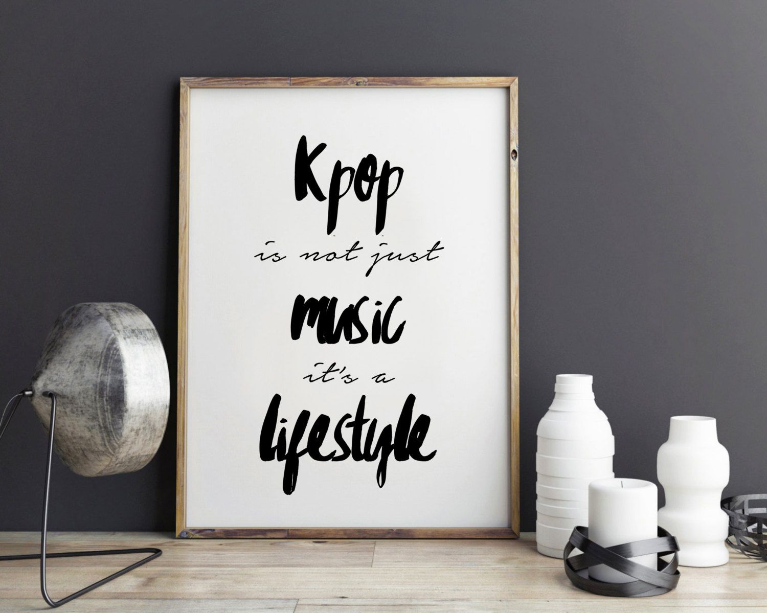 Wall Quote Stickers Bedroom Kpop Quote Inspirational Quote Exo Poster Btskpop
