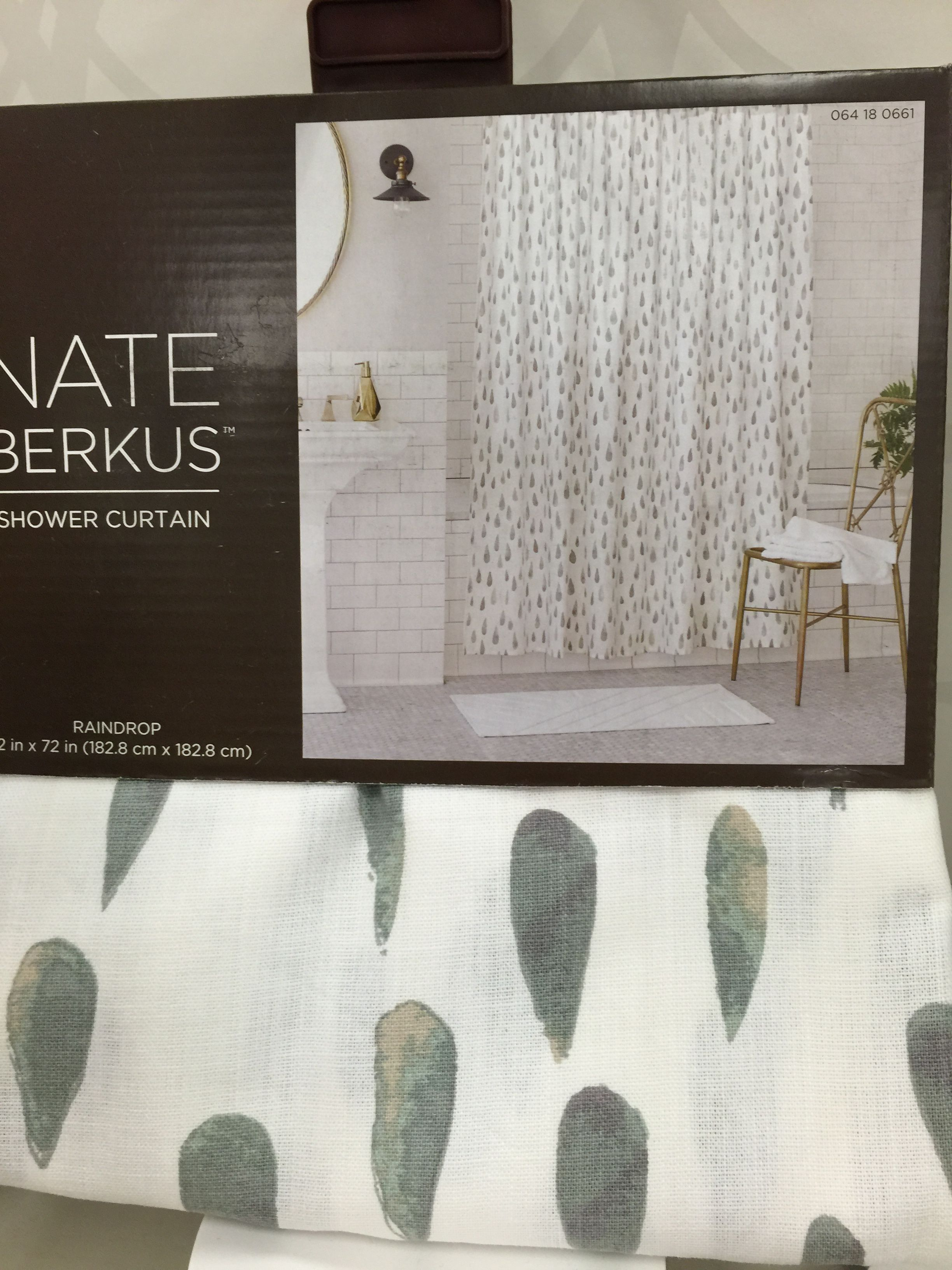 Nate Berkus Raindrop Shower Curtain Home Decor Dream Bathroom Decor