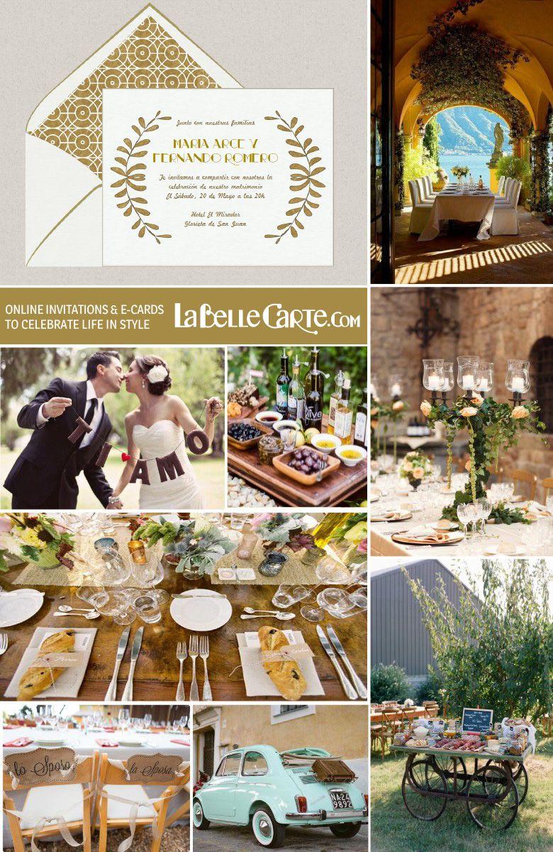 Italian Wedding Themed Ideas Decor Menu Pizza Bar Vintage Online Invitations At LaBelleCarte