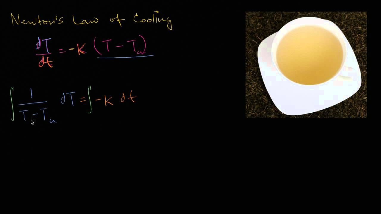 Newton S Law Of Cooling Newtons Laws Newtons Third Law Of Motion Differential Equations