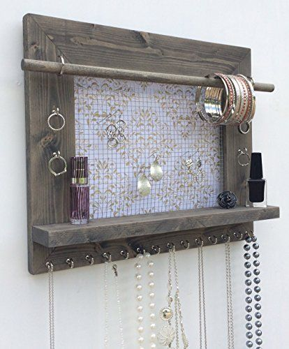 Jewelry Organizer, Earring Holder, Necklace Holder, Barnwood Frame, Jewelry Holder, Jewelry Display, Hanging Jewelry Organizer, Wood Jewelry Organizer, Wall Mount Jewelry Holder Diva Display http://www.amazon.com/dp/B00Z3SBNZU/ref=cm_sw_r_pi_dp_vR.Wvb0ES3R4H