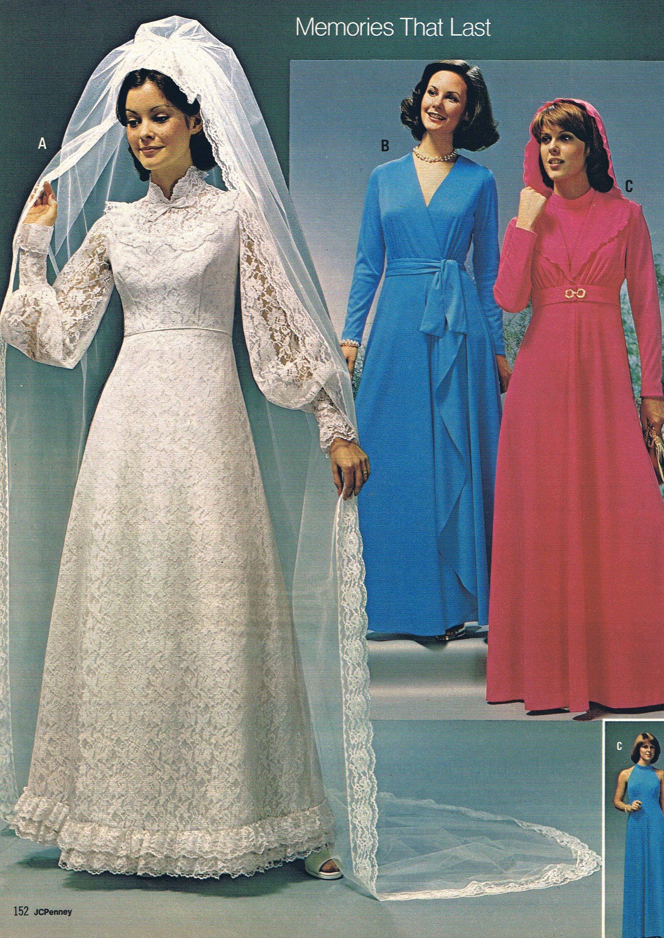 Wedding by JC Penney - 1975 OMG, the dreaded 1970's ...