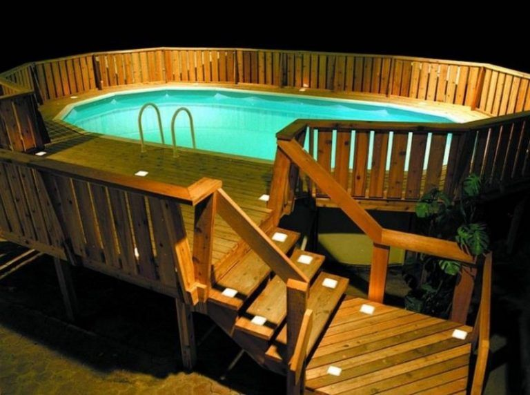 Outdoor Lighting For Types Of Above Ground Pool Decks Pool Deck