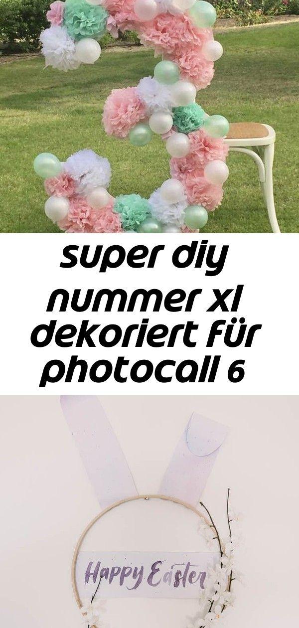 Super diy nummer xl dekoriert für photocall 6 super DIY Nummer XL dekoriert für Photocall Modern DIY Easter Wreath love this easter bunny hoop wreath Winter Won...
