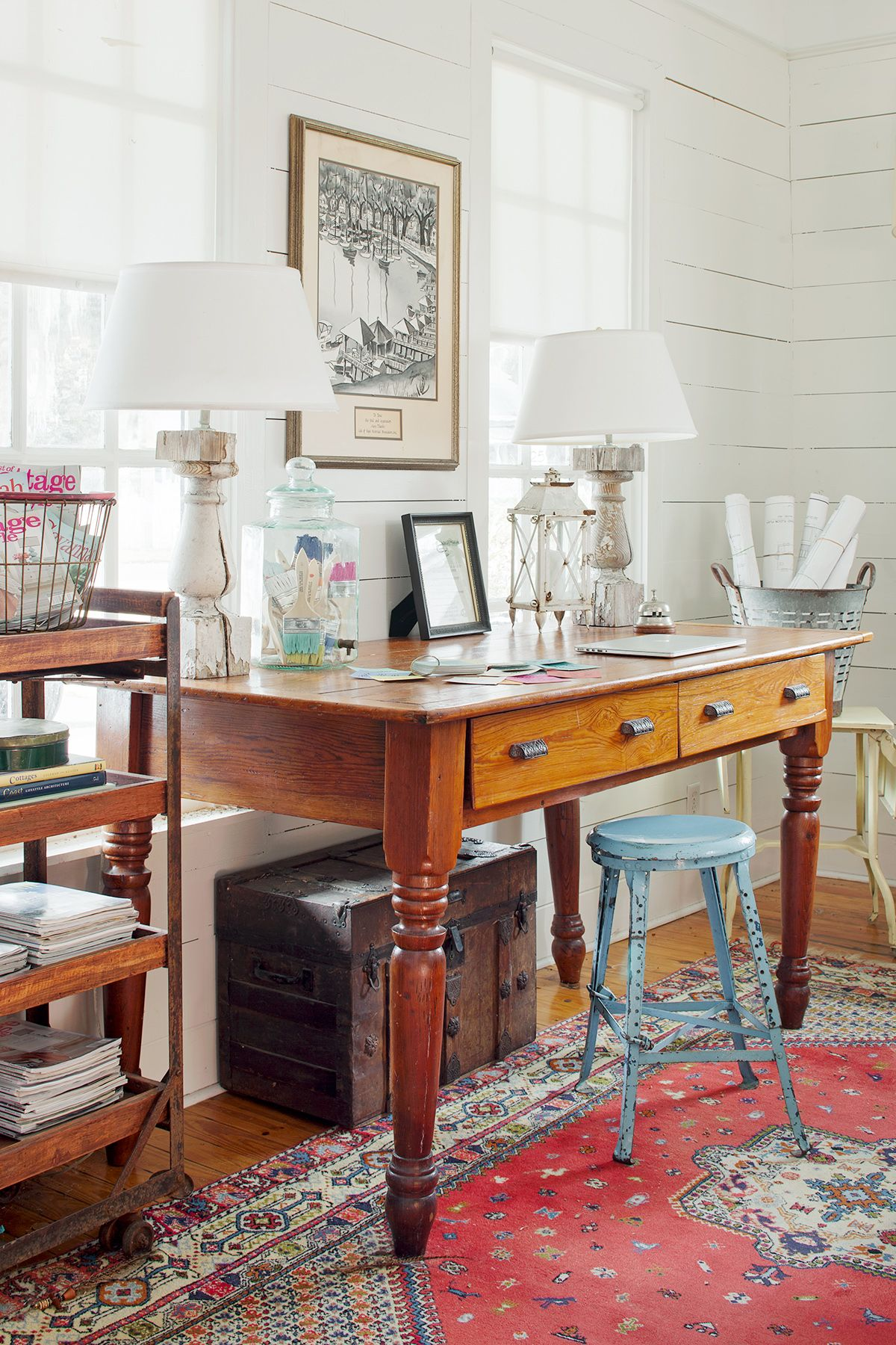 Gorgeous Country Inspired Home Offices Vintage Home Offices Decor Home Office Storage