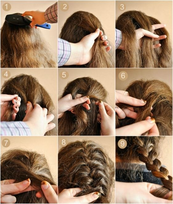 How To Make A French Braid Braiding Your Own Hair Hair Styles French Braid Hairstyles