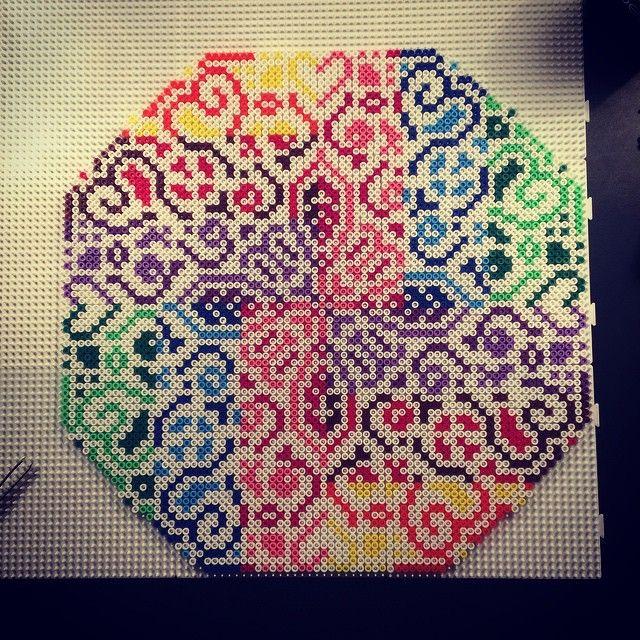 Colorful hama perler bead design by aslaugsvava