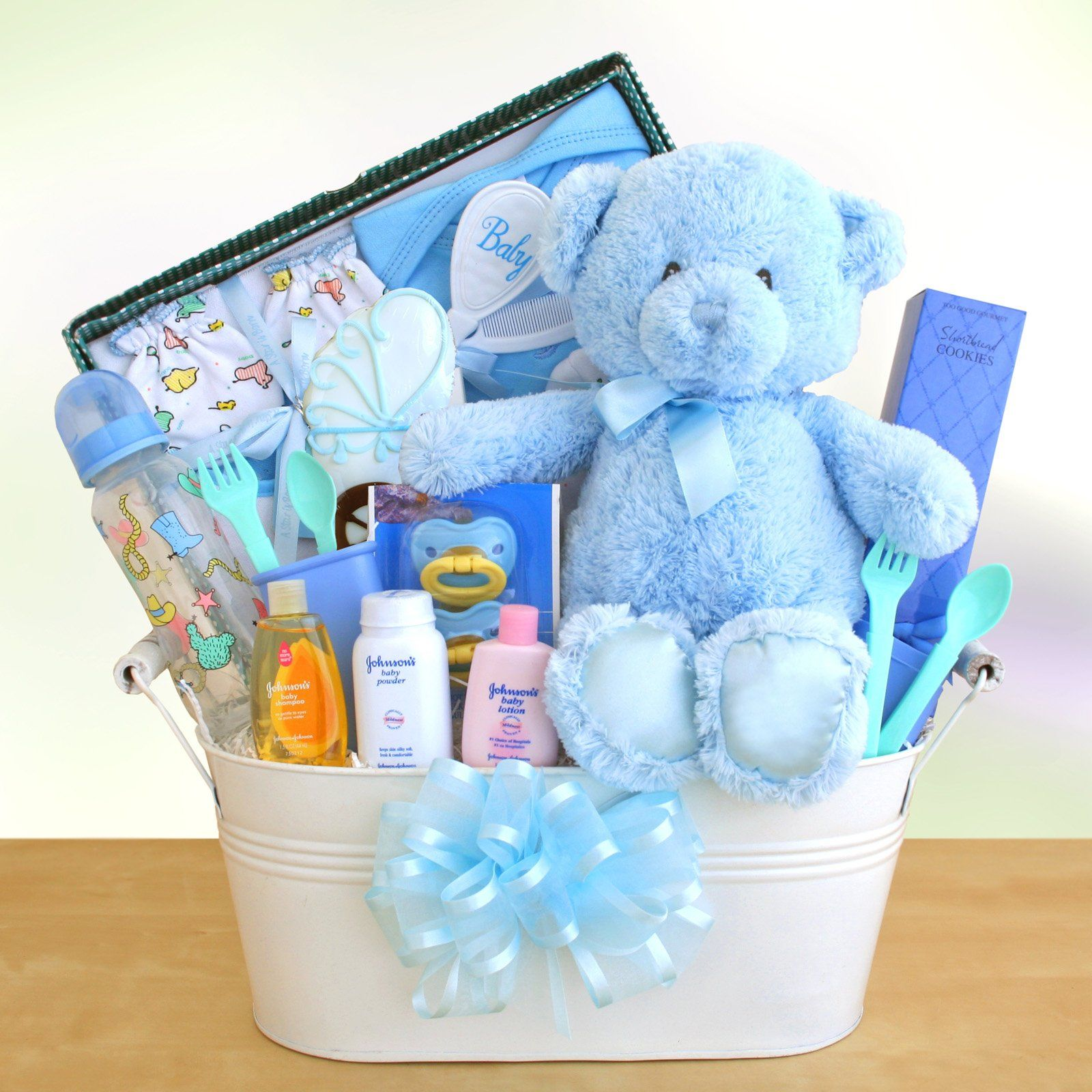Baby Gift Baskets Newcastle : Have to it new arrival baby boy gift basket