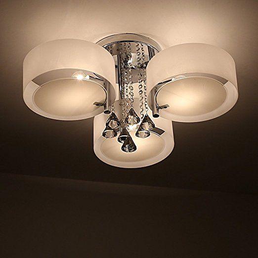 Natsen LED Kristall Deckenleuchte Deckenlampe Designer
