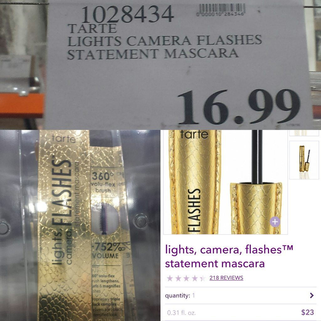 [PSA]Tarte Lights Camera Flashes Mascara now available at COSTCO.