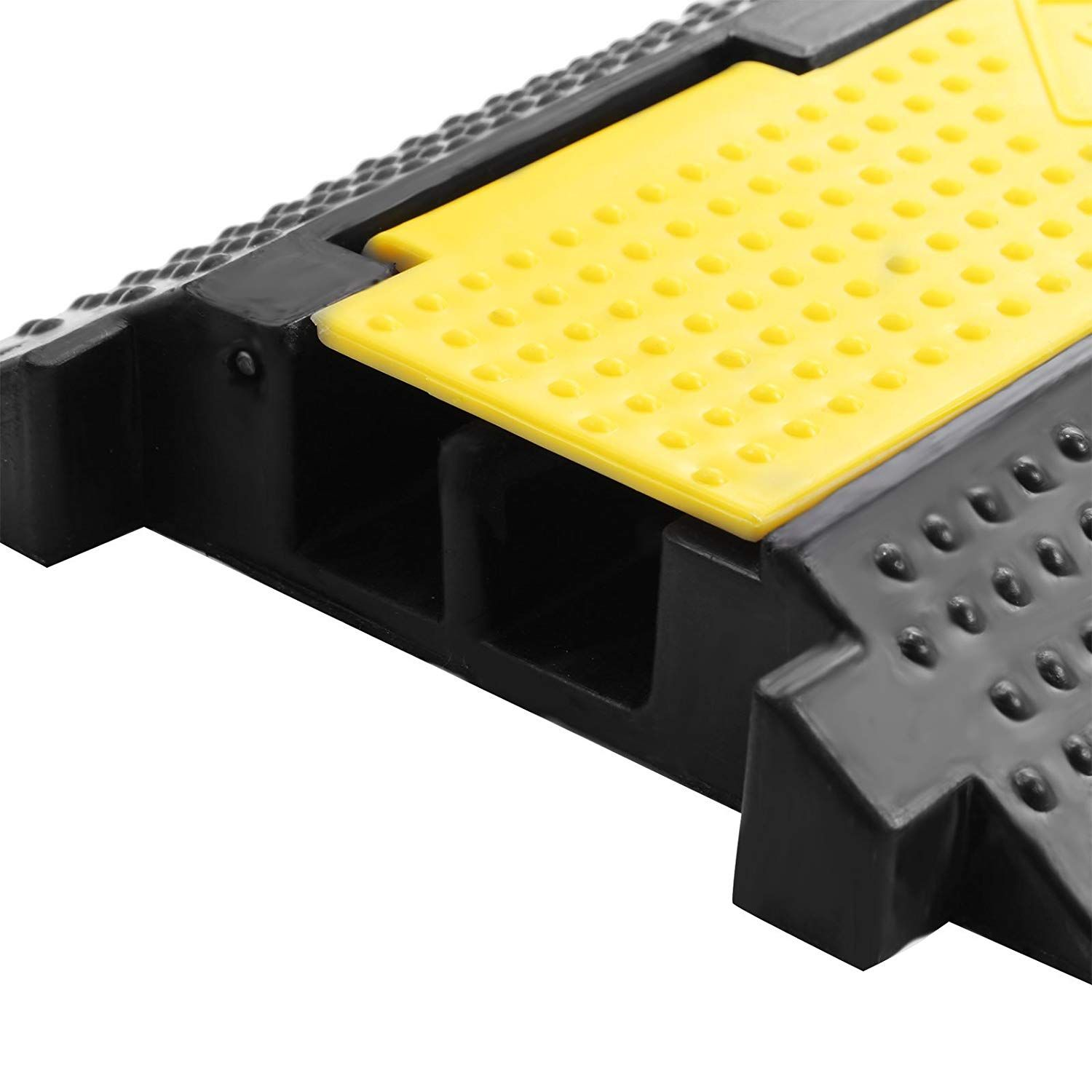 Amazon Com Bestequip 3 Pack Extreme Rubber Cable Protectors 2 Channel Cable Protector Ramp 11000lbs Capacity Rubbe Cable Protector Speed Bump Home Improvement