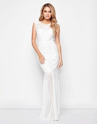 d6304493ce Lipsy Bridal Ella Sheer Skirt Maxi Dress | Things to Wear ...