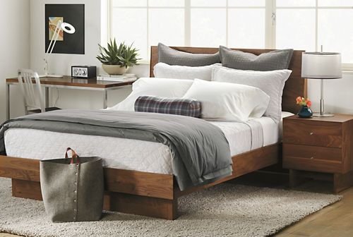 Hudson Wood Bed Modern Contemporary Beds Modern Bedroom