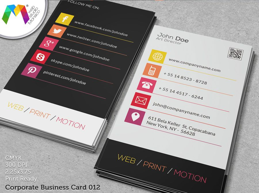 10 best images about Business Card Design by Web Studio Monaco on ...