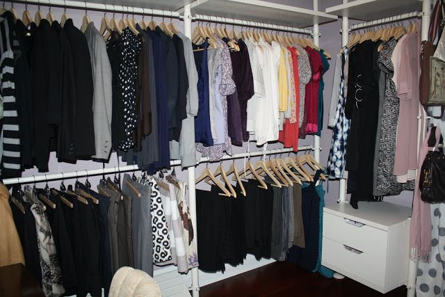 dressing room ikea stolmen clothes organized by type and colour my house pinterest. Black Bedroom Furniture Sets. Home Design Ideas