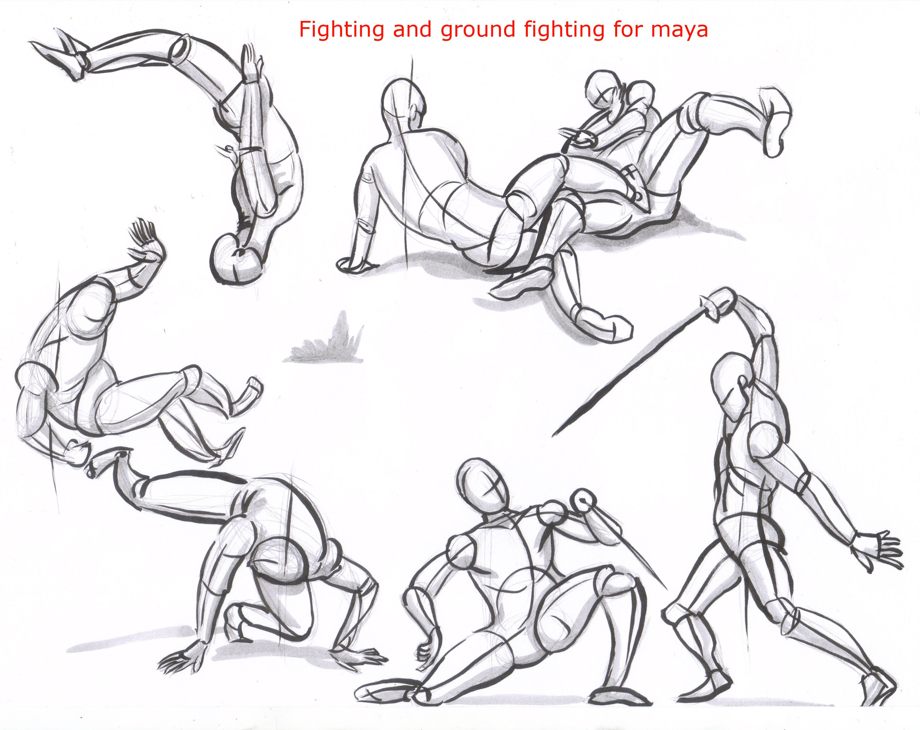 Fencing Movement Drawing Poses Art Poses Fighting Poses