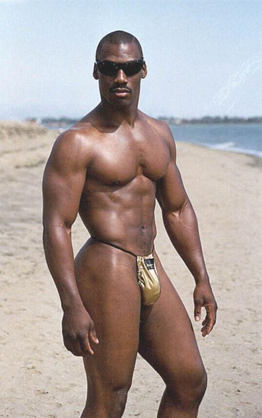 hunk beach Black men