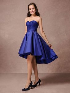 Vestido para homecoming 2019 Vestido de boda de color azul ...