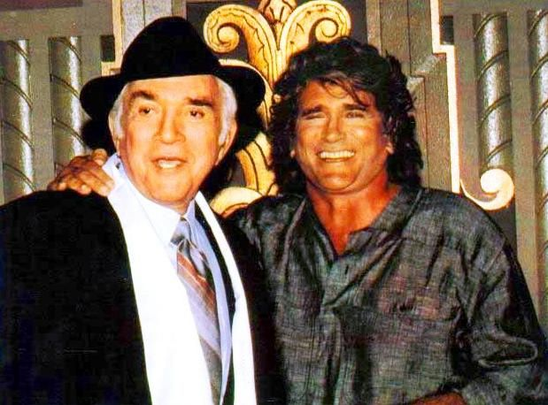 """Happy to be re-untied with his television son, Michael Landon, Lorne Greene starred in the Highway to Heaven episode: """"Smile in the Third Row."""""""