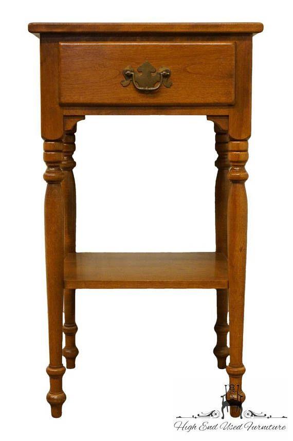 Ethan Allen Heirloom Nutmeg Maple 16 Nightstand Side Table Mom Pinterest Nightstands Furniture And Doors