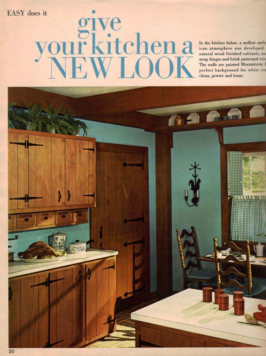 60S Kitchen 1960S Decorating Style  16 Pages Of Painting Ideas From 1969