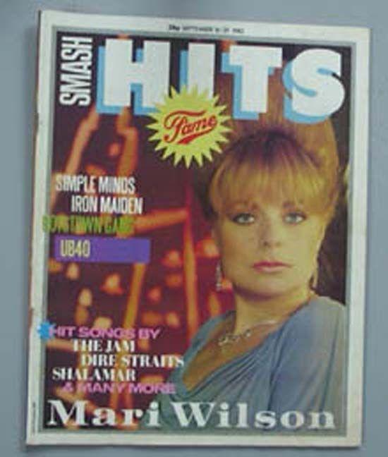 MARI WILSON SMASH HITS MAGAZINE 16 SEPT 1982 - MARI WILSON COVER + MORE INSIDE U