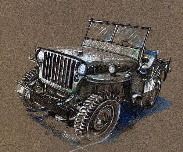 Willys Jeep Drawing Carros Y Motos Dibujos De Autos Autos