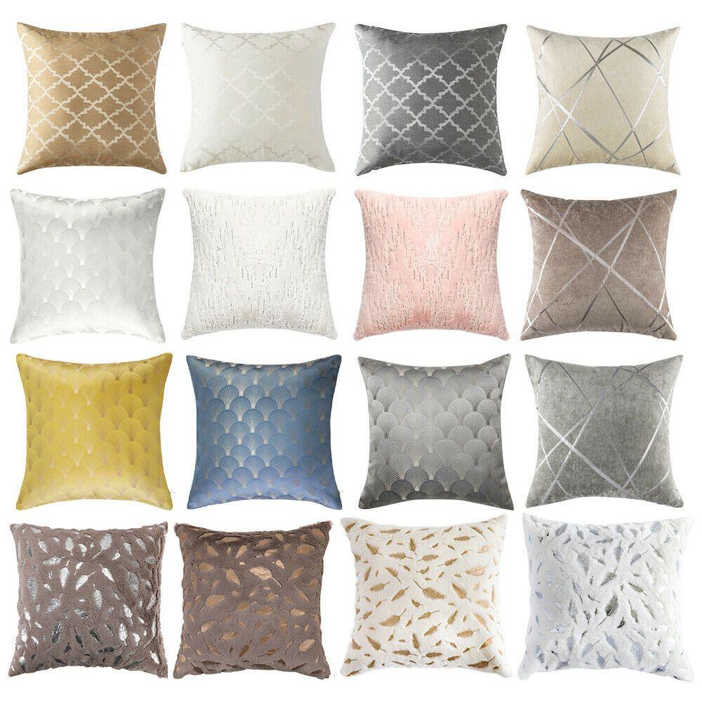 Throw Pillow Covers Geometric Jacquard Chenille Faux Fur Sofa Couch Cushion Case Sofa Cushions Ideas Of Sofa Cushio In 2020 Cushions On Sofa Couch Cushions Pillows