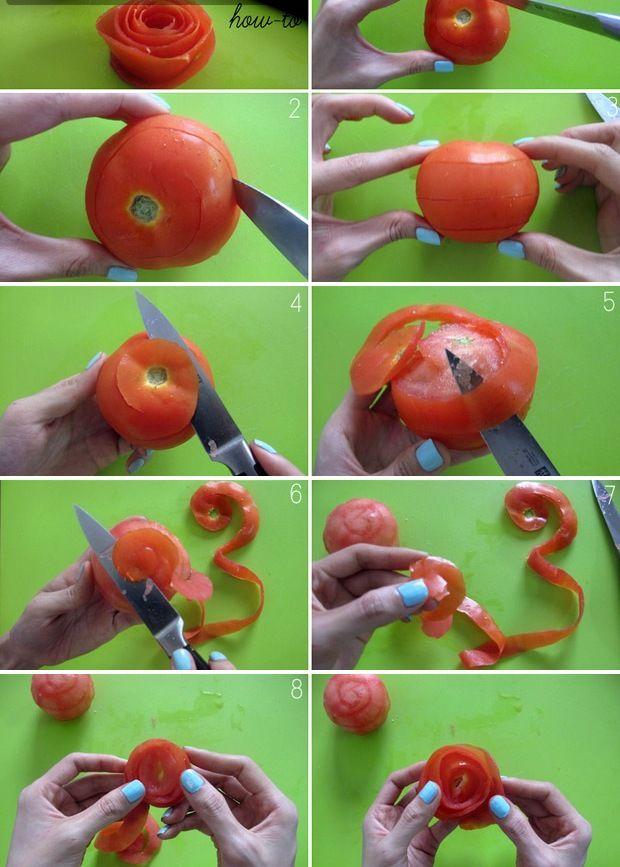 Anleitung Zu Tomatenrosen Schälen Und Wickeln Dekoration Mit