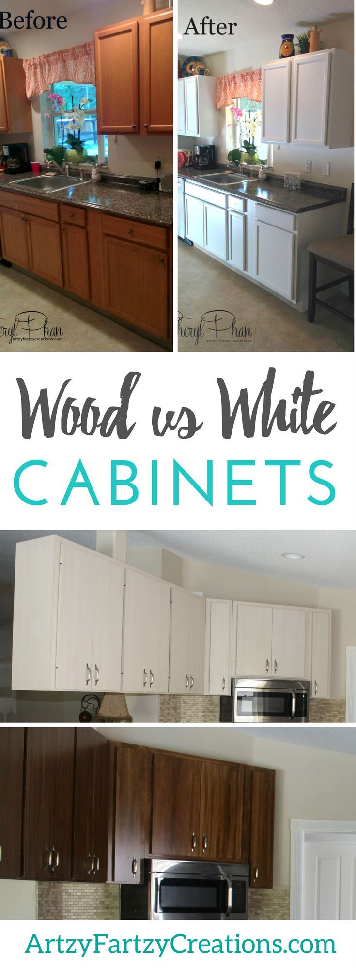 Wood Or White Cabinets In The Kitchen What S Your Preference Redo Kitchen Cabinets Stained Kitchen Cabinets Kitchen Redo