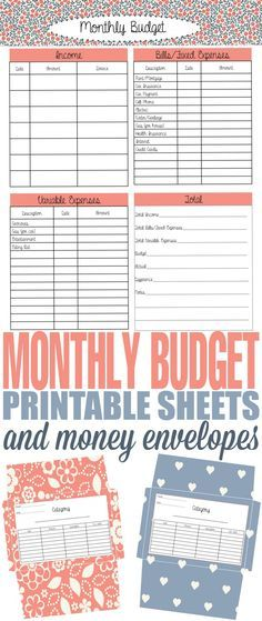 How to Budget and Spend Wisely with an Envelope System with free - how to do a monthly budget spreadsheet