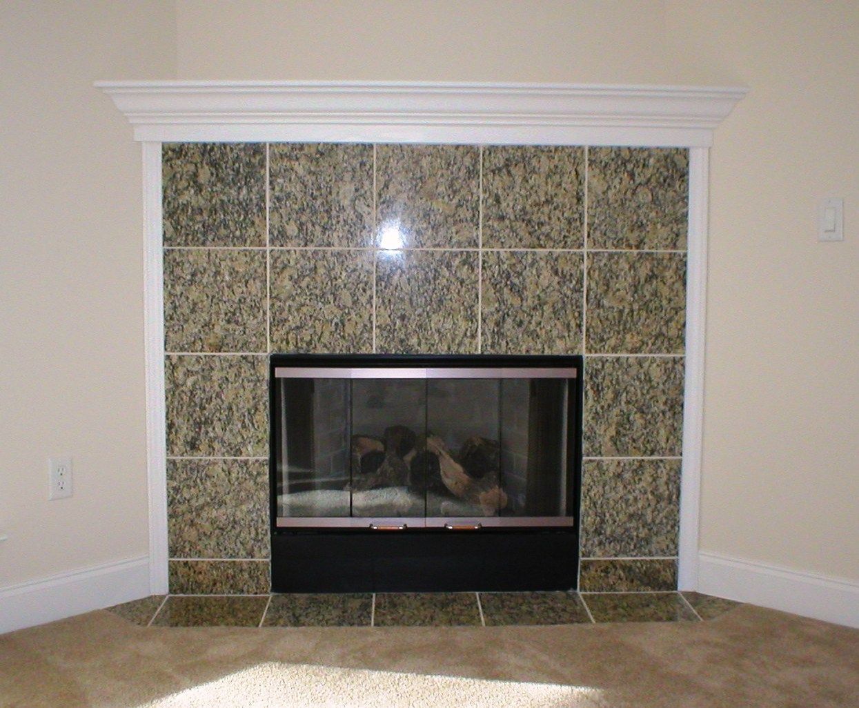 Granite Tile Fireplace Surround Fireplace Tile Simple Fireplace Fireplace Tile Surround