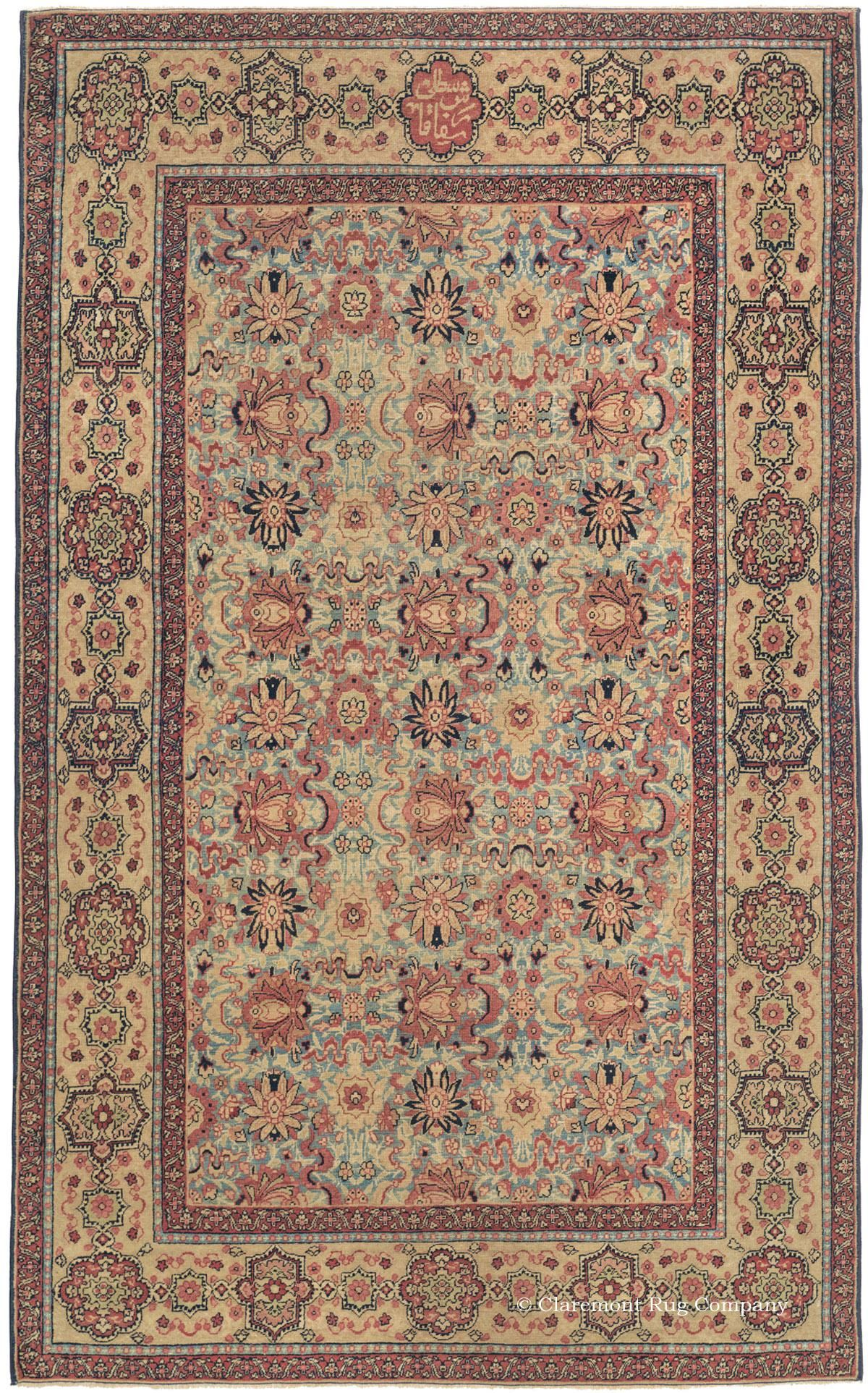 LAVER KIRMAN - Southeast Persian 4ft 5in x 6ft 11in Late 19th Century