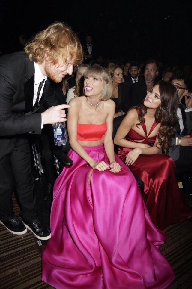 Selena Gomez and Taylor Swift and Ed Sheeran