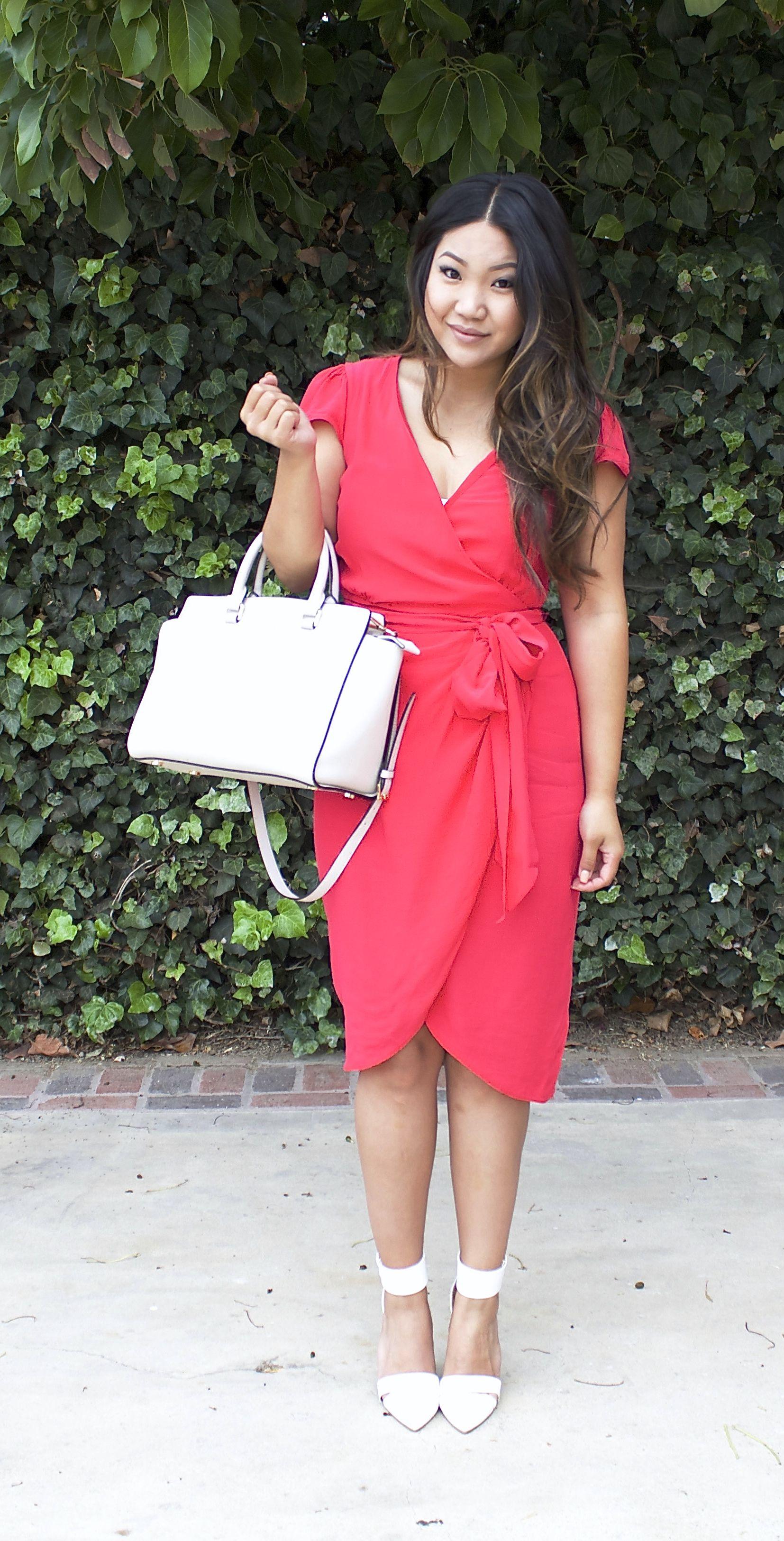 Pink Wrap Dress Working Work Dresses Sunday