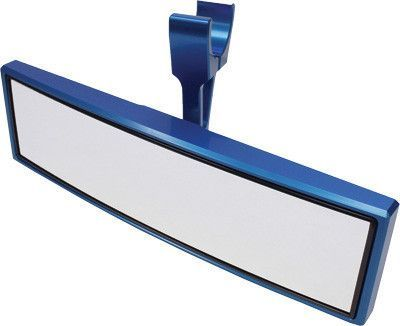 "MODQUAD-SINGLE CLAMP REAR VIEW MIRROR BLUE 1.75"" pn# RZR-M-BL"