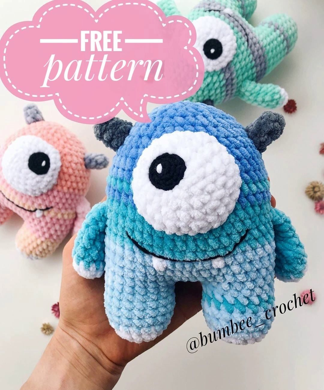 Photo of FREE crochet monster pattern