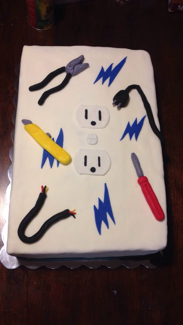 Electrician Birthday Cake homemade by me Pinterest Birthday