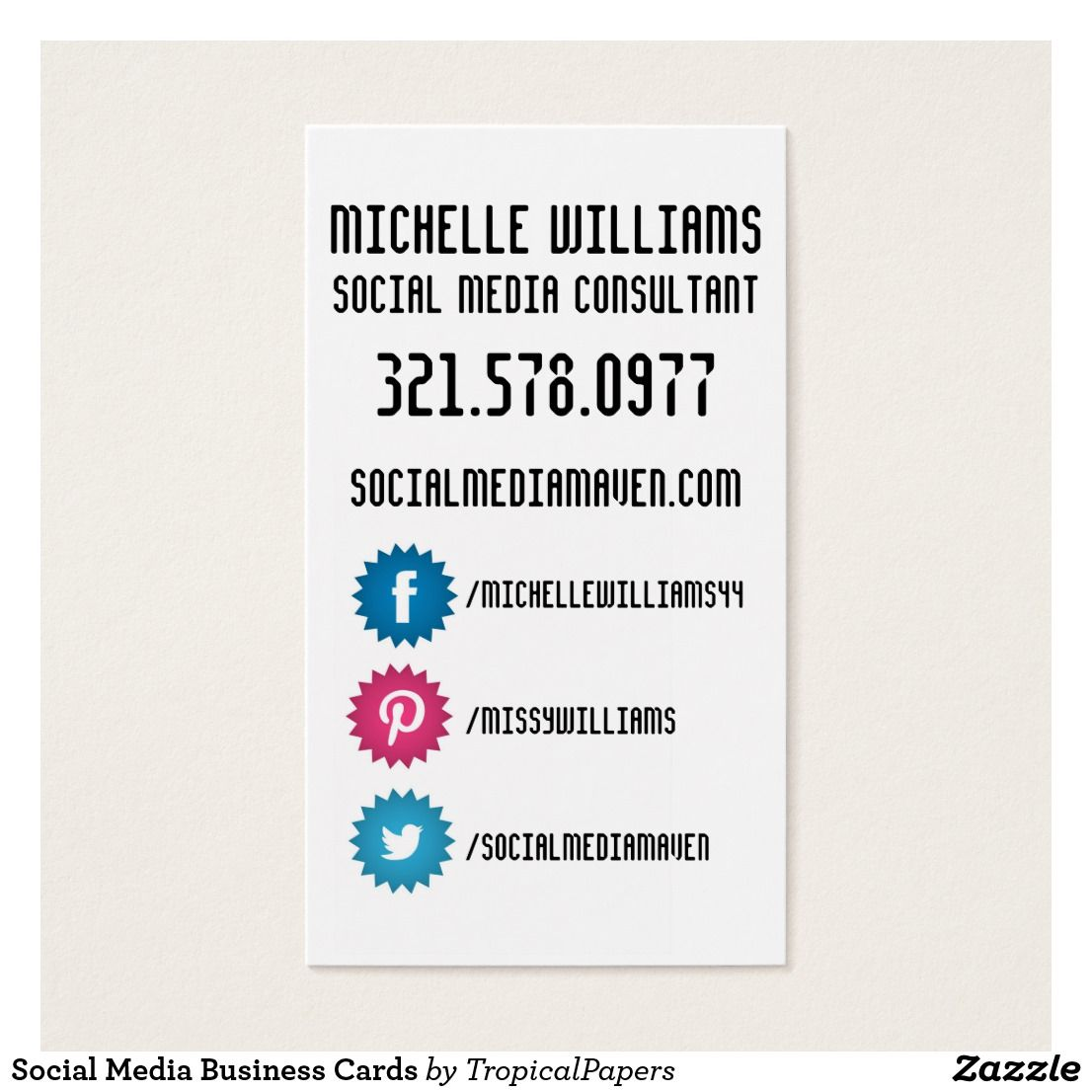 Social Media Business Cards | Business cards
